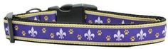 Mirage Pet Products Purple and Yellow Fleur de Lis Nylon Dog Collars Medium Mirage Pet Products http://www.amazon.com/dp/B00I6B7WBA/ref=cm_sw_r_pi_dp_te5kwb0WCDD6D
