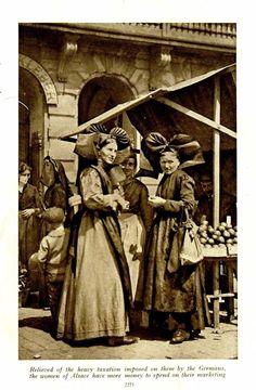 Alsace, Alsatian, Strasbourg, Lorraine, Family History, Paris, German, Vintage Fashion, Statue