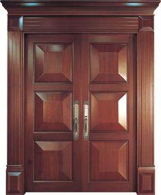 Breezeway~This door design would be the perfect door at both ends of the breezeway. Wooden Front Door Design, Double Door Design, Wooden Front Doors, The Doors, Home Door Design, Door Gate Design, Door Design Interior, Oak Interior Doors, Double Doors Interior