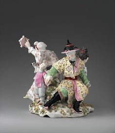 Chinese musicians Modeler: Joseph Willems (Flemish, 1716–1766) Factory: Chelsea Porcelain Date: ca. 1755 :Soft-paste porcelain