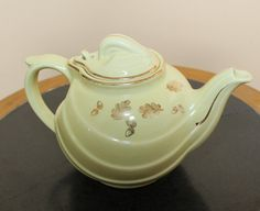 Vintage Sunny Yellow HALL TEAPOT 6Cup  Made in by OnlyTreasures, $20.00