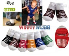 Wholesale Infant Baby Shoe Style Anti-skid Socks New Born Baby Stockings Baby Ankle Socks 6 colors 24pairs/lot, Free shipping, $1.13-1.38/Pair | DHgate