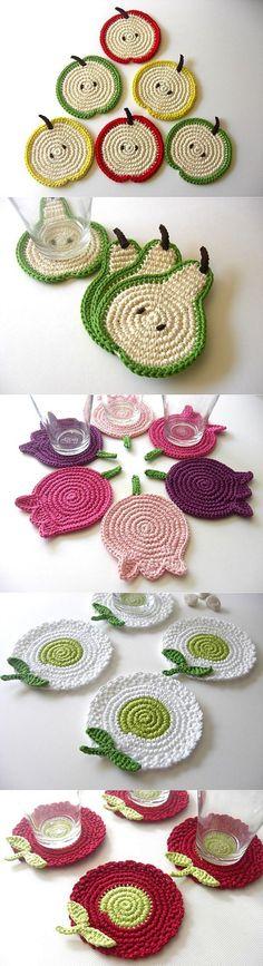 Подставки под стаканы, горячее. Идеи для вязания | Шкатулочка для рукодельниц