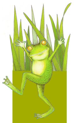 Funny Frogs, Cute Frogs, Frog Illustration, Character Illustration, Frog Art, Frog And Toad, Cute Drawings, Animal Drawings, Cute Friends
