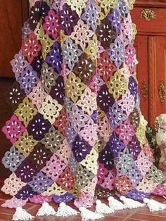 I love how lacy this crochet afghan pattern is.