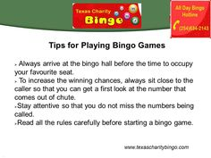 Play English and Electronic Bingo Games at Texas Charity Bingo in Bryan, TX. For more information visit - http://texascharitybingo.com/