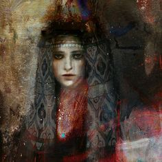 "Saatchi Art Artist Suhair Sibai; Painting, ""Damascus Queen #4"" #art"