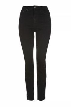 6c05e20cf0 MOTO Black Straight Leg Jeans. Dress Over JeansTopshop ...