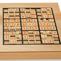 sudoku wooden board game instructions