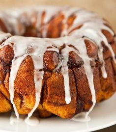Monkey bread doesn't have to take all morning! Start with Pillsbury Grands cinnamon rolls and it's so much simpler. A square of cream cheese gets baked right in to every dough ball, so there's an element of melt-in-your-mouth surprise. Serve this one fresh out of the oven for maximum monkey-bread enjoyment.