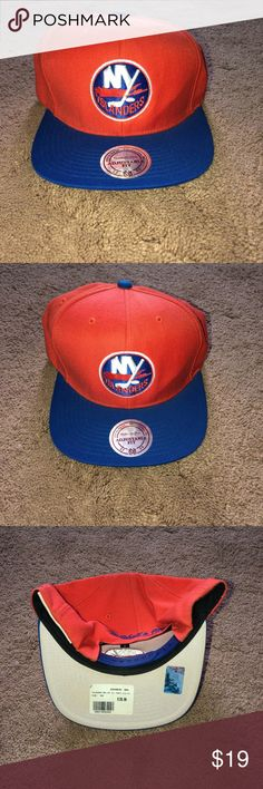 71e3312ee69 SnapBack • Orange and Blue SnapBack• • New York Islanders •    CROSS LISTED
