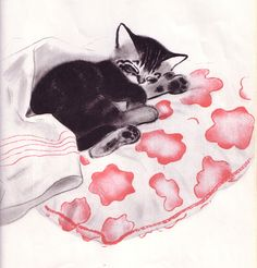 Illustration from MITTENS — 1936, by Clare Turlay Newberry