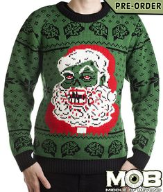Zombie Santa Claus Christmas Pullover Sweater – Middle of Beyond