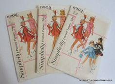 3 Vintage 1960s Majorette Twirler Skating Costume by linbot1, $12.00