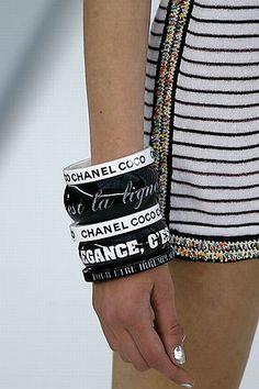 chanel typographic bracelets