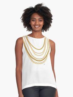 Elegante und schicke Design mit realistischen Goldketten