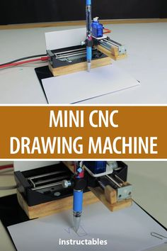 Build a mini CNC drawing machine with an Arduino nano. Arduino Cnc, Diy Cnc Router, Cnc Woodworking, Cnc Projects, Arduino Projects, Projects To Try, Diy Electronics, Electronics Projects, Drawing Machine