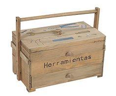 Caja de herramientas de madera DM