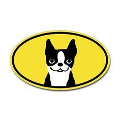 Boston Terrier Smile Sticker (Oval)