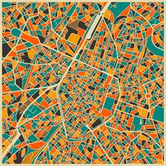 Abstract Maps Jerusalem Canvases And City - Los angeles map wallpaper