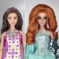 This Artist Turned Barbie Dolls Into Drag Queens From RuPaul's Drag Race | Valentina <3