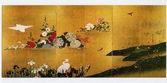四季花鳥図屏風, Sakai Hōitsu (酒井 抱一, 1761-1828)