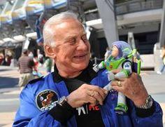 Buzz Lightyear with his namesake Buzz Aldrin. #science #space #astronaut