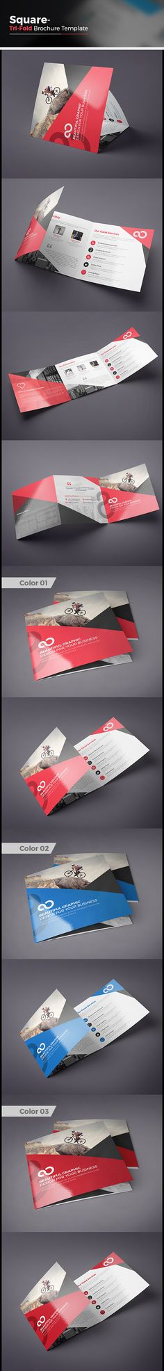 Square Tri fold Business Brochure on Behance