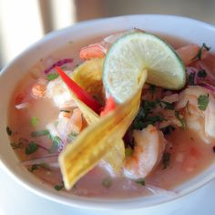 A shrimp ceviche at Ecuatoriana, which prides itself as one of the last bastions of authentic Ecuadorian food in Manhattan. (Photo: Michael Appleton for The New York Times)