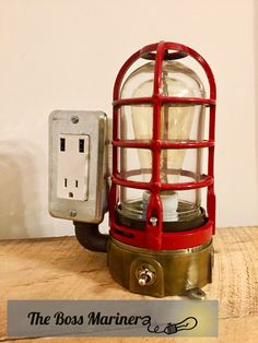 Robot Steampunk Industrial Pipe Desk Lamp with Dimmer, 2 AC & 2 USB outlets, Smartphone Charging Cradle, optional Apple Watch Charger AirBnB Homemade Tables, Usb Lamp, Pipe Desk, Usb Charging Station, Steampunk Lamp, Unique Lamps, Custom Lighting, Electronic Devices, Lamp Design