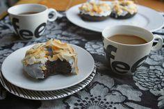 Dark Chocolate Cake Doughnuts by @Tracy Benjamin