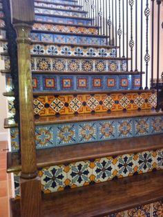 Spanish tiled staircase