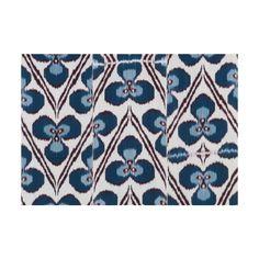 Madeleine Weinrib - Turquoise Ricard Ikat Fabric