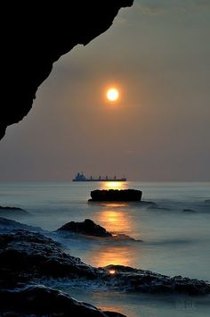 From the sea cave....