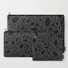 Organic - Black and White Carry-All Pouch by laec | Society6