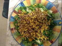 Salade calmar frit et mais