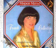 Mireille Mathieu Vintage Soviet Vinyl Record by VintageRemembrance