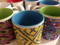 You won't find these mugs with unique designs by surface designer Trish Westrop from More than Divine in just any old High Street Shop!
