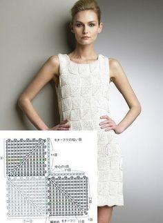 Ponto do Bordado: Vestidos de crochê com gráficos