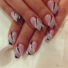 French Tip Nail Designs, Creative Nail Designs, Creative Nails, Nail Art Designs, Short Nail Designs, Yellow Nails Design, Purple Nail Art, Soft Nails, Pink Nails