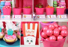 Shopkins are the hottest toys right now and quickly becoming the most popular party theme for girls. What is great about a Shopkins themed party is that there Shopkins Food, Shopkins Bday, Birthday Celebration, Birthday Parties, Celebration Cakes, Party Organization, Organizing, Birthday Box, Birthday Ideas