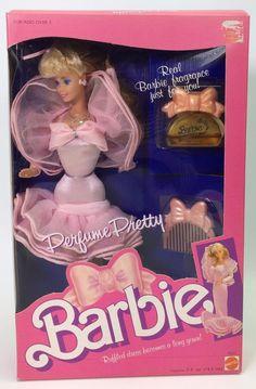 1987 PERFUME PRETTY BARBIE NIB #Mattel #DollswithClothingAccessories