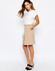 Image 1 of Warehouse 60'S A-line Skirt
