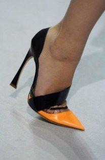 Black & Orange Christian Dior Heels