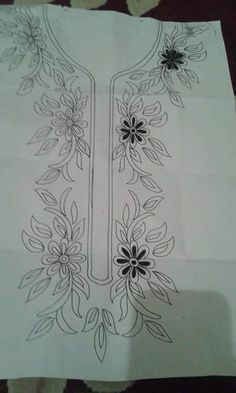 Neckline embroidery designs.Get urs made at The Paisley couture.Whatsapp at +91 7837069070.