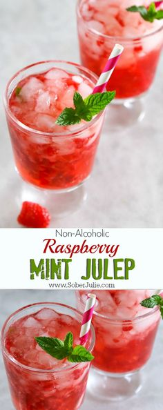 non alcoholic raspberry mint julep drink recipe