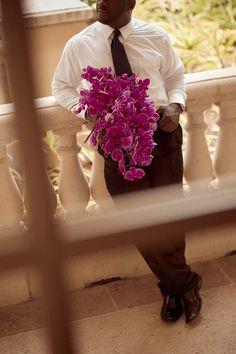 Grace Ormonde Wedding Style Platinum Member Botanica International Design Studio Tampa, FL; Hand-tied fuchsia phalaenopsis orchids. Photography: R. Joseph Photographics Tampa, FL. http://www.weddingstylemagazine.com/photo-galleries/bouquets/page-31