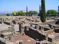 Le village antique de Capharnaüm, au bord du lac de Tibériade, en Israël.