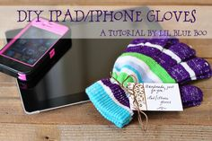 So it's a little annoying that iPad and iPhones don't work with gloves on! I did some research around how the iPad/iPhone works and you need the conductive property of the human finger…..so that sent my investigative nature into overdrive and after a bunch of experiments I came up with something that worked! These would be a fun stocking stuffer or holiday gift!