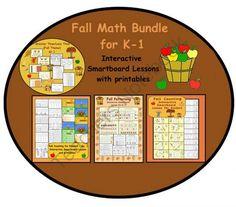 Fall Math Bundle for Smartboard! Enter for your chance to win 1 of Fall Math… Math Resources, Math Activities, Teaching Kindergarten, Teaching Ideas, Creative Teaching, First Grade Math, Grade 1, Second Grade, Fall Clip Art